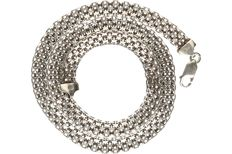 925/1000 silver fantasy link necklace. - length x width: 46 x 0.7g