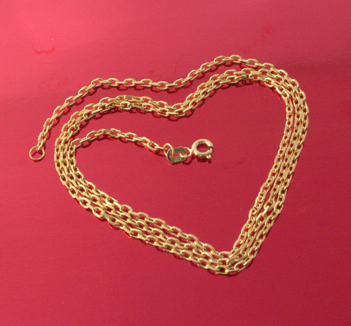 18k Yellow Gold Necklace - Force-  55 cm - 6.96 g