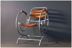 unknown designer - Tubular cantilever lawn chair