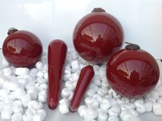 Christmas decoration XXL in glass - 5 pieces