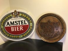 Beer displays - Amstel Beer and Ruddles Country House Beer Display - second half of 20th century