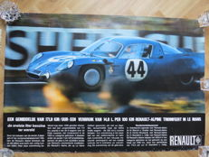 Alpine Renault 24 hours Le Mans showroom poster