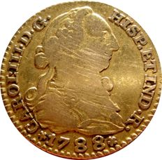 Spain - Carlos III (1759–1788) - 1 gold escudo. Madrid. 1788. M