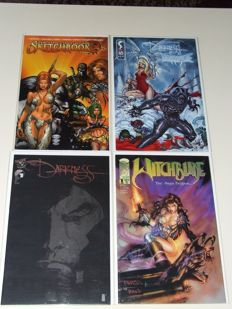 Comics - Witchblade/ Darkness - Including Witchblade #1 - 4x sc - 1st Edition (1995/2009)