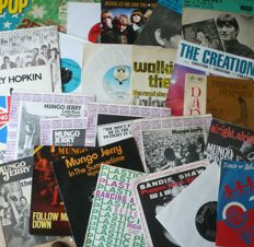 "1960's Beat, Folk, Pop, Psych, Novelty and Progressive - Lot of 25 7"" singles and EP's (various labels 1964-1976) - various countries of press"