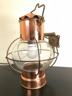 Very high quality large copper anchor light - circa 1950