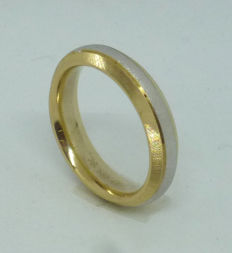 14k yellow and white gold wedding ring - size 54