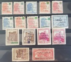 Tangier 1940 - authorised stamps from Spain - Edifil NE 10/25