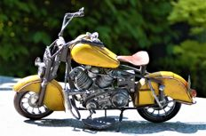 Decoratieve metalen motoren Indian  (2x)