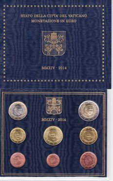 Vatican - 2014 - Set of 8 coins from 1 cent to €2