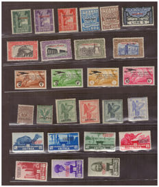 Italian Colonies - Selection of stamps: Eritrea, Cyrenaica, Cyrenaica, Rhodes and Aegean