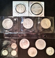 Europe - Lot of 12 coins 1890–1988 - Silver