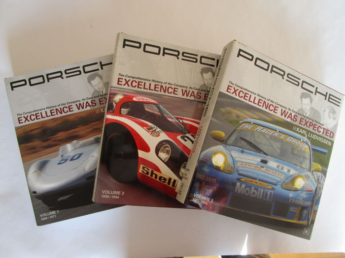 'Porsche - Excellence was Expected' - 3 volumes by Karl Ludvigsen in slipcase