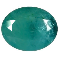 Neon blue-green grandidierite - 5.25 ct.