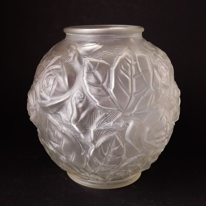 Art Deco Frosted Glass Vase Catawiki
