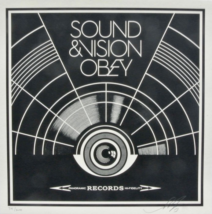 Shepard Fairey (OBEY) - Sound & Vision Album Cover Edition