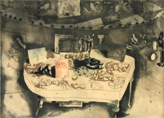 Jorge Castillo - Composición Surrealista (Still Life on Table)