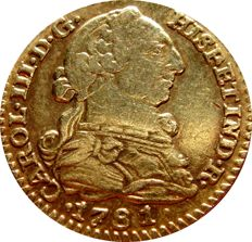 Spain - Carlos III (1759–1788), 1 gold escudo. Madrid. 1781. PJ.