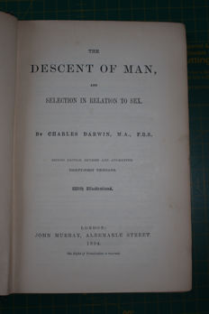 Charles Darwin - The Descent of Man and selection in relation to sex - 1894