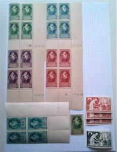 """France 1940/1945 – Stamps and stickers """"Mutualité Postale"""""""