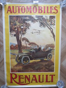 special poster - issued in 1968 - Renault 70 years.