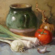 "Unknown (21th century) - ""Still life with jug"""
