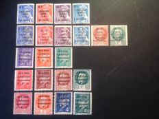 France 1940 – 3 complete series of the Liberation of Cannes, Nice and Annemasse, including signed and certified by Calves