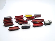 Arnold/Fleischmann/Roco and Others N - 14x Mixed Goods Wagons