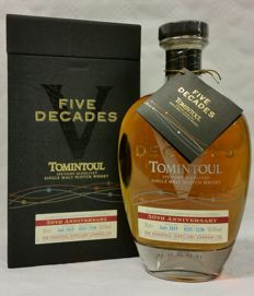Tomintoul Five Decades - bottled July 2015 - Special Limited Release of only 5230 bottles worldwide