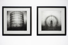 Frank Machalowski (1971) 'Multiexpo wheel' and 'Multiexpo gasometer' from the series 'Multiexpo', 2013
