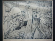 After Jan Toorop (1858-1928) - 'Reinilda, de Zusters van Brethanië, Overgave en Arbeid' from 1923