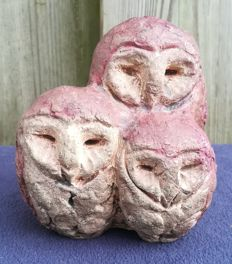 Hanna Mobach - Sculpture of three owls