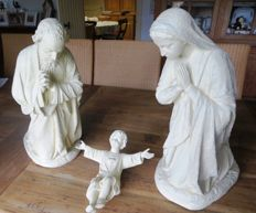 3 large Christmas statues of Joseph, Mary and Jesus Christmas Noël