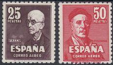 Spain 1947 – Falla and Zuloaga – Edifil 1015/1016