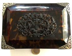 Tortoise shell and silver box, Indonesia, circa 1900/1920