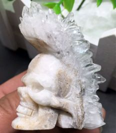 Crystal cluster skull - 51 x 55 x 36 mm - 114 gm