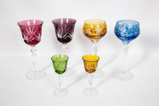 6 crystal glasses made in Germany in the Bavaria region