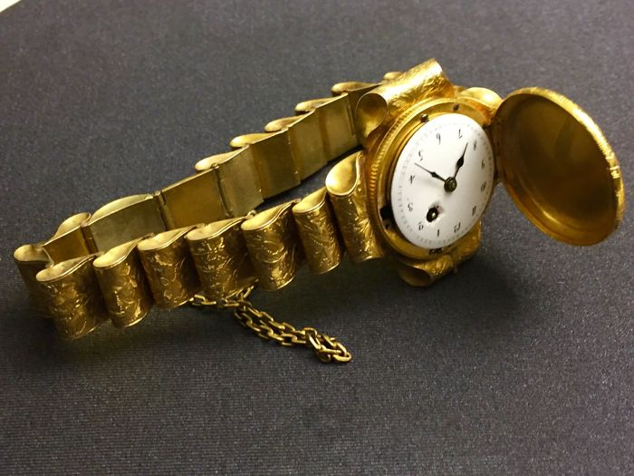 Early wristwatch (marriage watch) - collector's item - 1790-1820