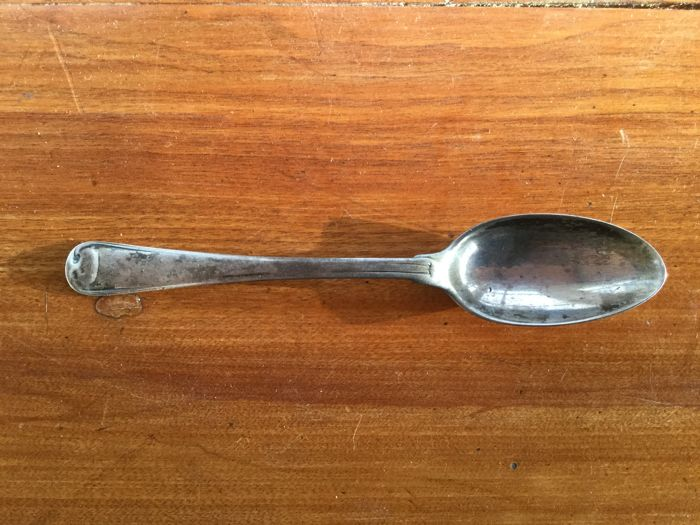 Dutch silver dessert spoon - The Netherlands - The Hague, circa 1780