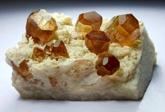 Fine Orange Brown terminated Topaz Specimen - 194 gm - 70 x 44 x 41 mm
