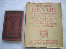 "Stijn Streuvels; Lot with 2 editions of ""Reinaert de Vos"" - 1918 / 1921"