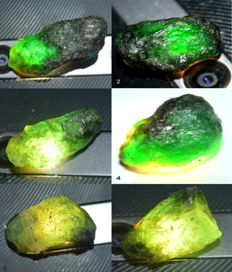 Nice collection of precious Colombian emerald green natural, untreated - 125,05ct (6)
