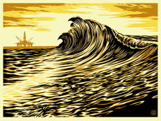 Shepard Fairey (OBEY) - Water is the New Black