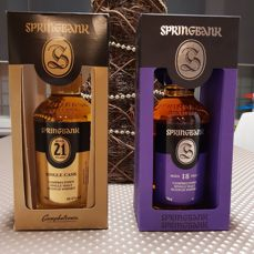 2 bottles - Springbank 21 years old & Springbank 18 years old