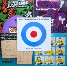 UK 1960's Beat, Punk, Psych - Lot of 5 compilations (A.I.P., Feed Back, Decca, Compleat) - US and UK press