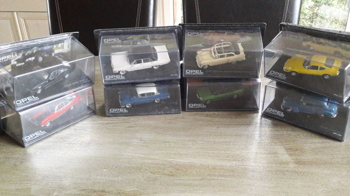 Eaglemoss Opel collection - Scale 1/43 - Lot with 8 models: 8 x Opel