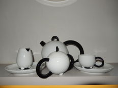 Arzberg, Fantasia coffee set design Matteo Thun - black/white