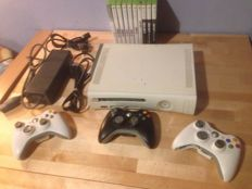 Xbox 360 console with 3 controllers and 10 games! - FIFA and Call of duty collection!