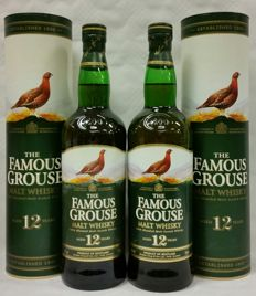 2 bottles - The Famous Grouse 12 years old - discontinued bottling