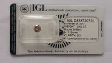 0.62ct Round  diamond cut  Fancy Brown  SI3  Lab report -NO RESERVE